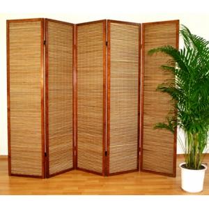 Ширма из бамбуковой соломки, 5 створок
