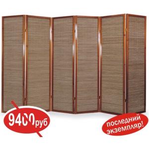Ширма из бамбуковой соломки, 6 створок