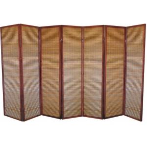 Ширма из бамбуковой соломки, 7 створок